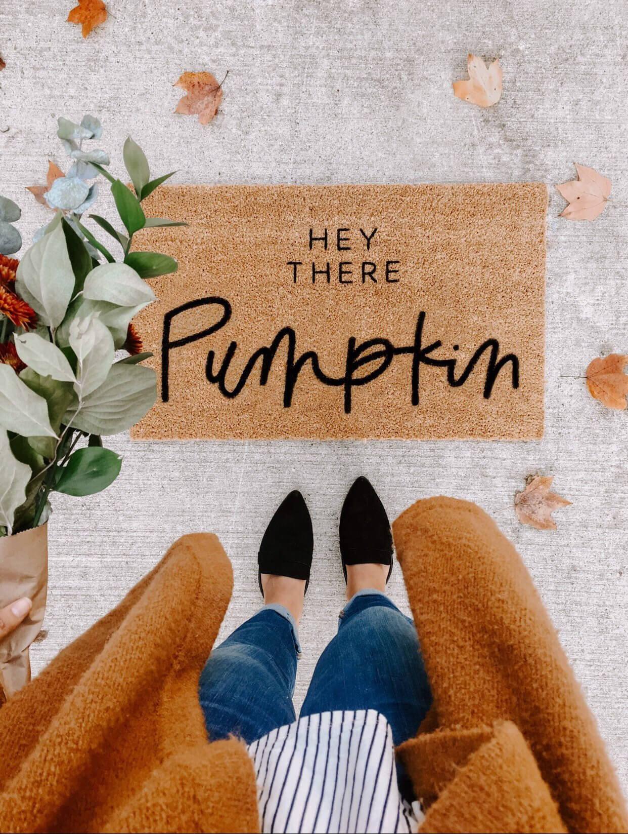 Pumpkin Doormat Design